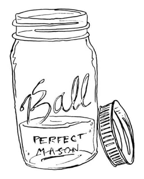 drawling - mason jar