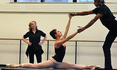 Susan Stroman and Tiler Peck in rehearsal