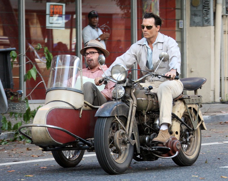 Johnny Depp Is Classic Cool Driving A Vintage Motorcycle! 1/1