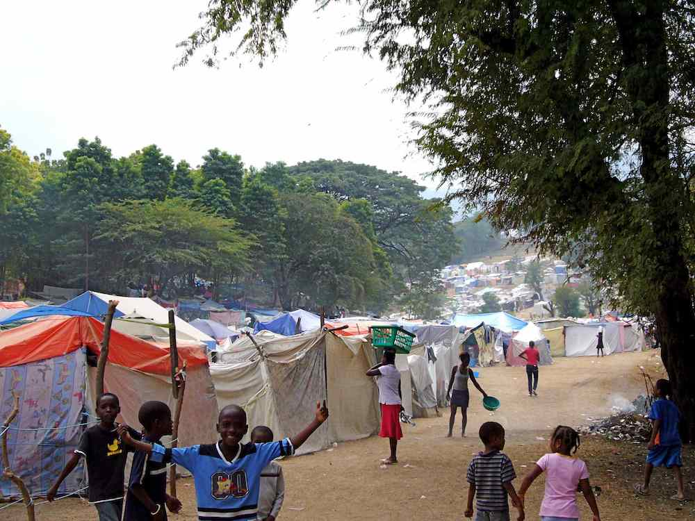 IDP Refugee tent camp