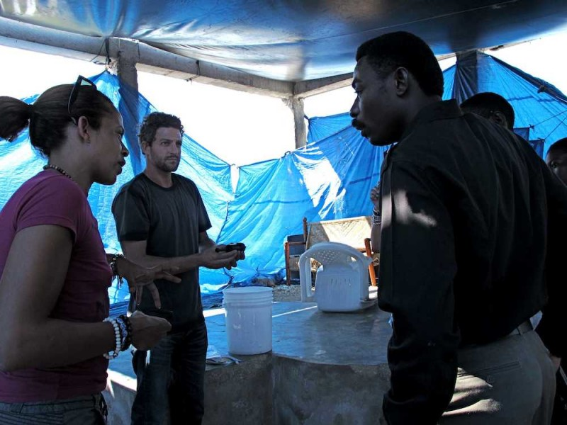 Meeting in Tent Camp