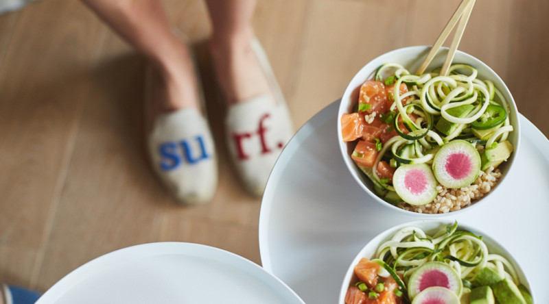 MAKING SALMON POKE BOWLS WITH CLEAN FOOD DIRTY CITY